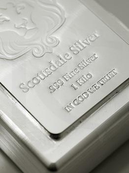 """Scottsdale """"Kilo Stacker II"""" Silver Bar 1kg"""
