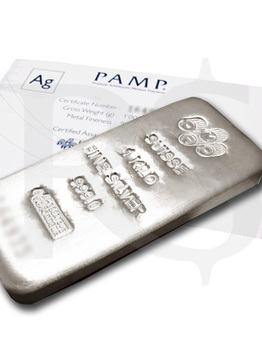 Buy Volume: 3 or more PAMP Suisse Silver Kilo Bar