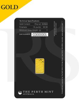 Perth Mint 1 gram 999 Gold Bar