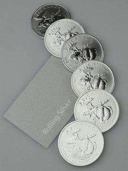 Canadian Wildlife Series: Moose 1oz Silver Coin (Capsule)