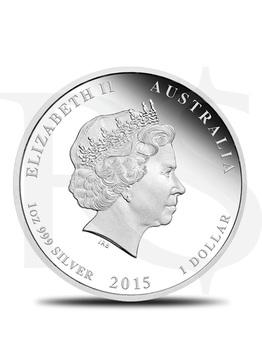 2015 Perth Mint Lunar Goat 1 oz Silver Coin