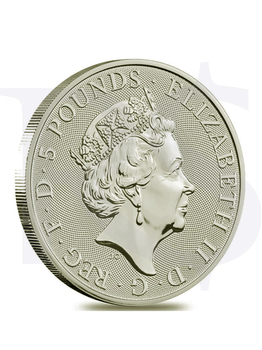 2020 Great Britain Queens Beast (White Horse) 2 oz Silver Coin