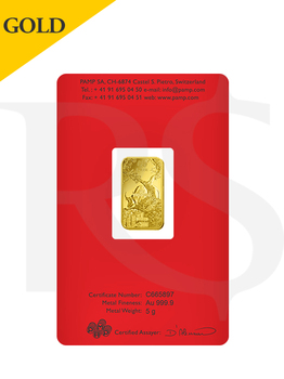 PAMP Suisse Lunar Ox 5 gram Gold Bar