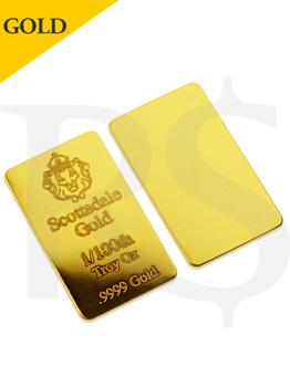 Scottsdale LBMA 1/100th oz (0.311g) .9999 Gold Bar