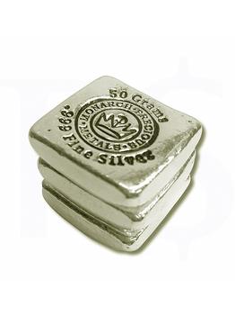 Monarch 50 gram Silver Bar (Hand Poured)