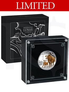 2021 Perth Mint Lunar Ox 1oz Coloured Silver Proof Coin