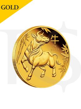 2021 Perth Mint Lunar Ox 1/10 oz 9999 Gold Proof Coin