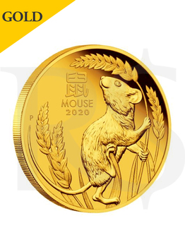 2020 Perth Mint Lunar Mouse 1/10 oz 9999 Gold Proof Coin