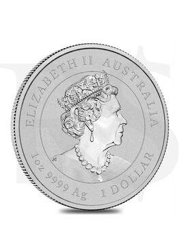 2022 Perth Mint Lunar Tiger 1 oz Silver Coin